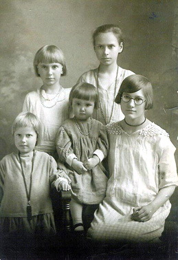 Photo taken of my Mom and her sisters around 1925 in Centerville, SD.