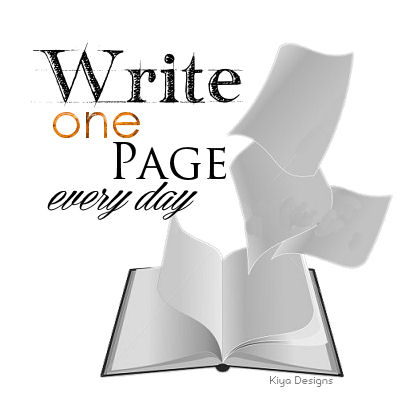 A wonderful image for, Write One Page Every Day.