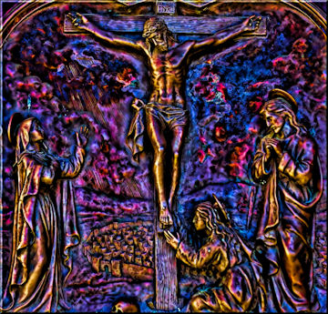 Digital painting of Christ on the Cross!