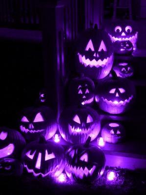 Purple Jack O Lanterns.
