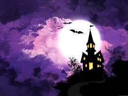 Purple haunted house.