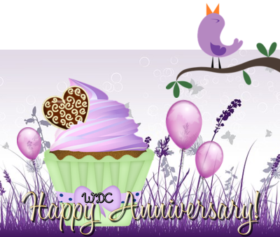 Happy Anniversary image for my Purple cNote shop.