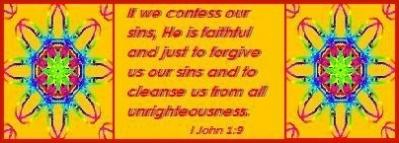 When we confess our sins, God forgives us and cleanses us!