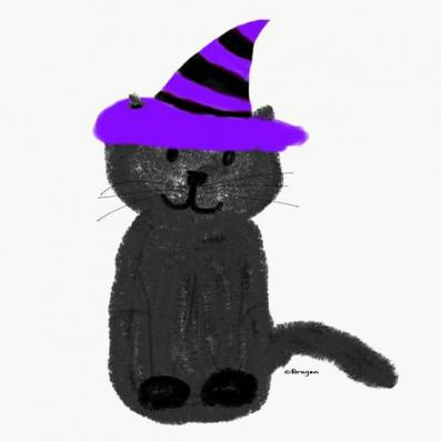 Witchy Kitty designed by Dragon