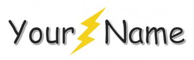 Sample lightning sig for shop
