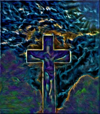 Digital image of a dream of Christ