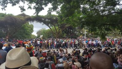 The crowds on Fourth Street, Harare