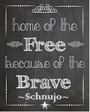 Home of the Free Because of the Brave Signature