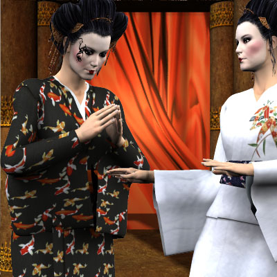 Beautiful Poser of Geisha girls by best friend Angel.