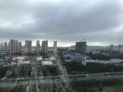 A picture of the city I live in, Qingdao, from my apartment.