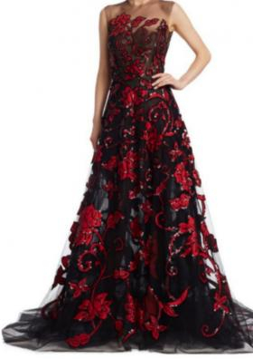 One of her gowns for the Masquerade Ball