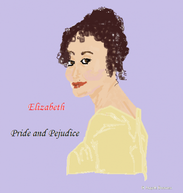 "A picture I drew of Elizabeth Bennet from ""Pride and Prejudice"""