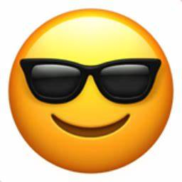 emoj face with glasses