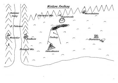 A map to accompany my 'Freiberg: A Visitor's Guide' project.