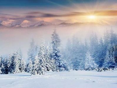 Winter scene for Winter Outdoor Activities Raffle