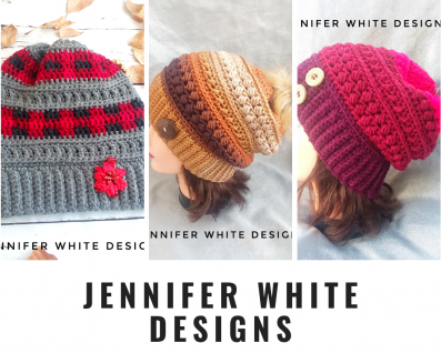 Collage of my crocheted hats