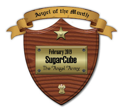 I was named angel of the month! Wow!