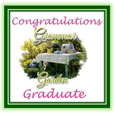 Graduation Certificate for Students Who Successfully Complete The Grammar Garden Course