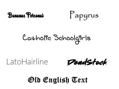 The fonts I use on signatures
