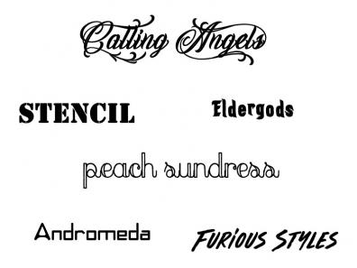 Even more signature fonts for The Confused Monkey
