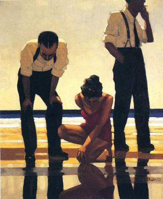 A painting called Narcissistic Bathers by Jack Vettriano