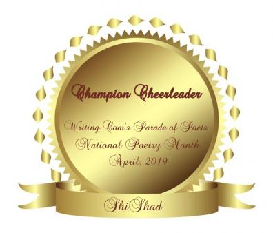An award for cheering on poets in Parade of Poets