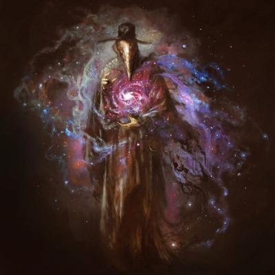 "Cover art 4 ""Chaos Philosophorum"" album by ""Dystopia"" drawn by American artist Adam Burke"