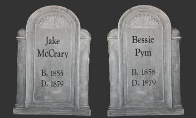 A pair of tombstones
