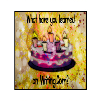 Image for my What Have I Learned on Writing.Com contest.