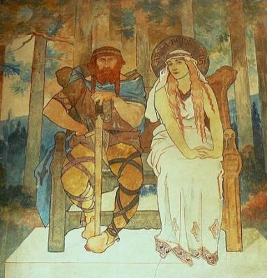 Fresco of Adalrich and Bereswinde