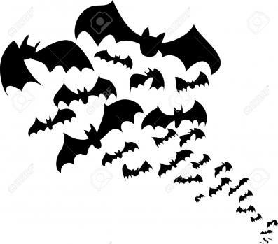 Clip Art of bats