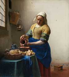 Vermeer's painting The Milkmaid