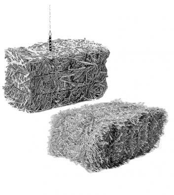 A clip art image of a birthday candle on a hay bale