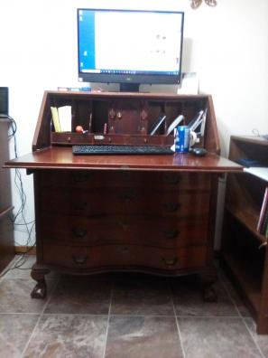 A picture of an antique desk I purchased