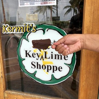 Chocolate dipped key lime pie from key west