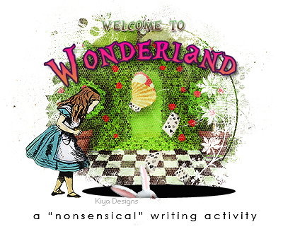 "banner for a ""nonsensical"" writing activity"