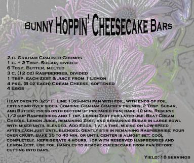 Scrumptious Raspberry topped cheesecake bars