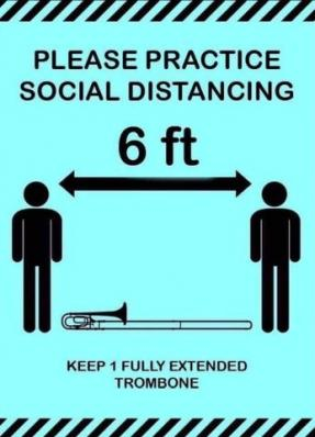 This Is How Trombone Players Social Distance!