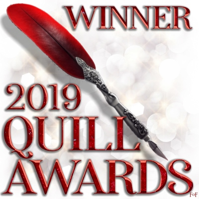A signature for exclusive use of winners at the 2019 Quill Awards