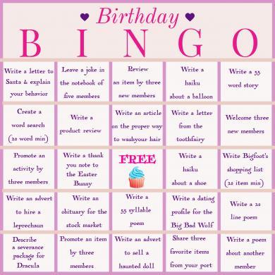 My Birthday Bingo Card for Bingo Blitz.