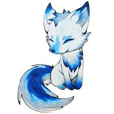 Blue Baby Fox
