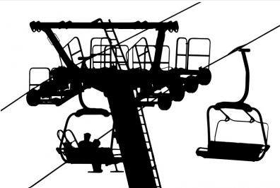 Clipart of a ski Lift