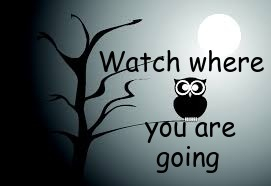 Watch where you are going