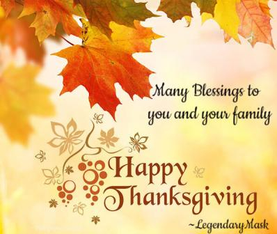 Many Blessings to you and your family!
