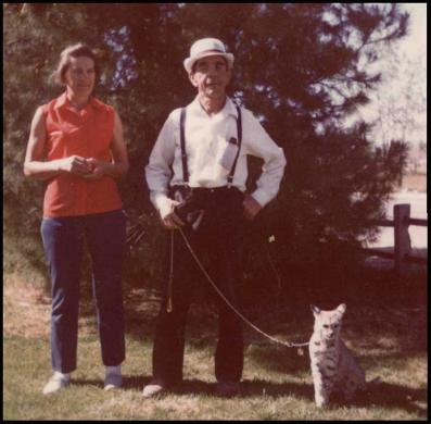 photo of Dorothy, Hubert, and the bobcat