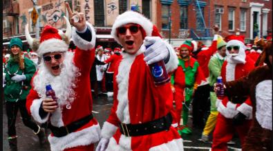 An overindulged Santa