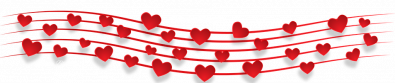 Valentine Musical Banner Lower image.
