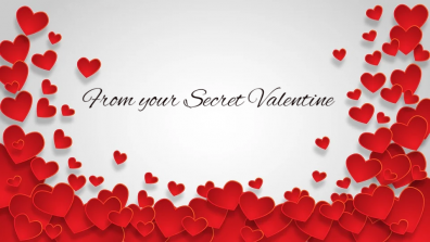 From Your Secret Valentine Floating Hearts signature!