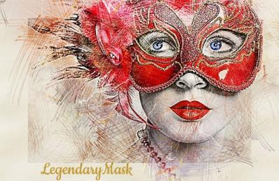 My Masquerade Ball Mask in Red.