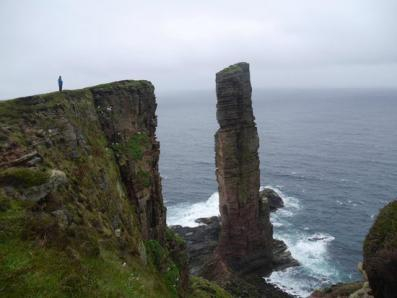 Sea stack named the Old Man of Hoy.